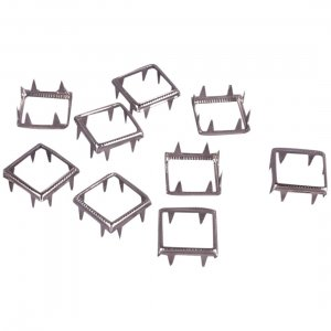 Silver Metal Open Square Studs - 12mm