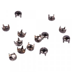 Silver Round Pyramid Studs - 6mm