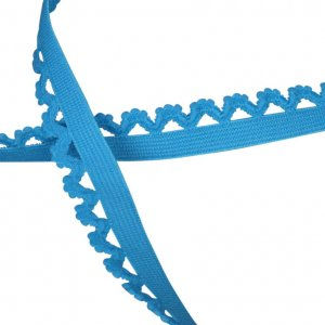 Bright Blue Decorative Edge Elastic