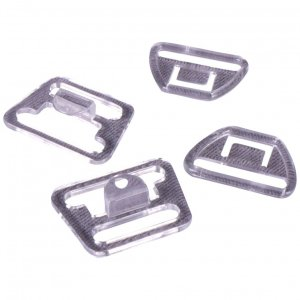 Clear Plastic Nursing Clips - 3/4 inch or 18mm - 10 Sets