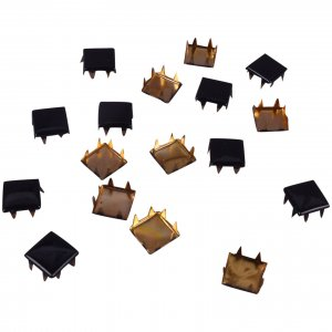 Black Metal Square Studs - 9mm