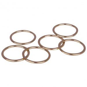 Gold Metal Alloy Rings - 3/4 inch or 19mm