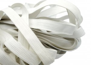 Off White Plain Elastic - 1/2 inch - 5 yards