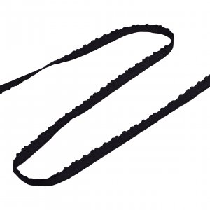 Black Heart Fold Over Elastic - 5 Yards