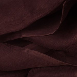 Brown 100% Silk Crinkle Chiffon - 45 inch wide - 1 1/2 Yard