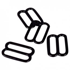Black Metal Slides - 1/2 inch or 13mm