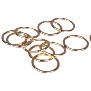 Gold Metal Alloy Rings - 1/2 inch or 13mm