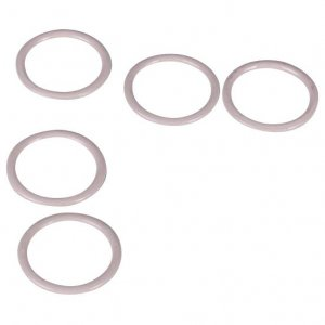 Beige Metal Rings - 1/2 inch or 13mm