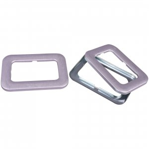 Silver Square Buckles