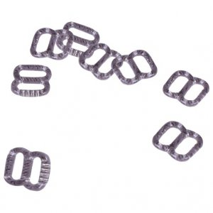 Clear Plastic Slides with Teeth - 5/16 inch or 8mm