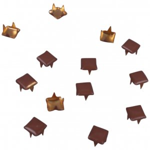 Brown Metal Square Studs - 5mm