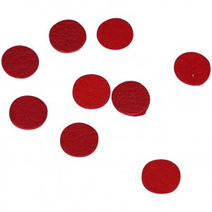 Red Leather Round Disk 12mm - 50 Pieces