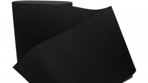 Black Plain Elastic - 6 inch - 1 yard