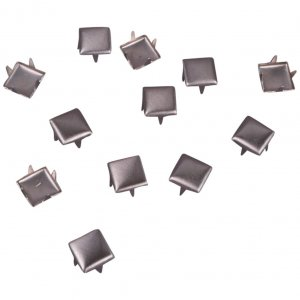 Silver Metal Square Studs - 6mm