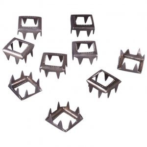 Silver Metal Open Square Studs - 9mm