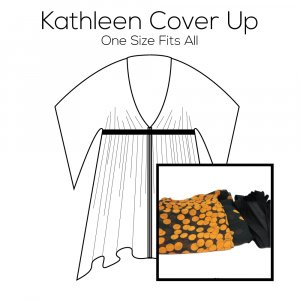 Kathleen Cover Up Pattern with Orange Fabric Kit