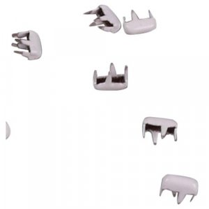 White Metal Rectangle Studs - 5mm