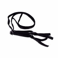 Black Bra Straps with Clear Slider - 1/4 inch