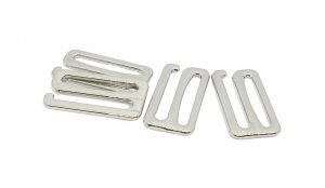 Silver Metal Alloy Slide Hooks - 1 inch or 25mm