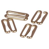 Premium Quality Gold Metal Alloy Slide Hooks - 3/8 inch or 10mm