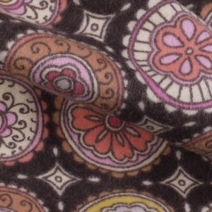 Brown Patterned Flannel Fabric - 44 inch - 2 Yards