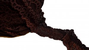 Brown Stretch Lace - 3 inch - 3 Yards