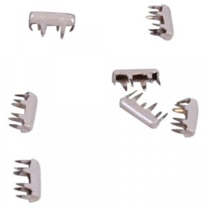 White Metal Rectangle Studs - 8mm