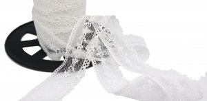 "White Vintage Lace - 7/8"" Wide - 3 Yards"