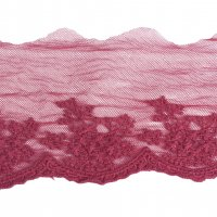 "Red Lace Mesh Trim - 4 1/2"" Wide - 1 Yard"