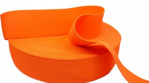 Fluorescent Orange Elastic - 2 inch - 1 yard