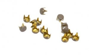 Light Brown Metal Round Studs - 3mm - 250 Pieces