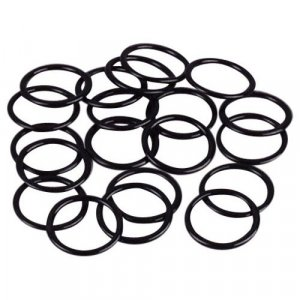 Black Metal Rings - 3/8 inch or 10mm