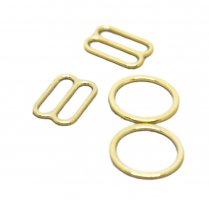 Gold Metal Alloy Ring & Slide Set - 1/2 inch or 13mm