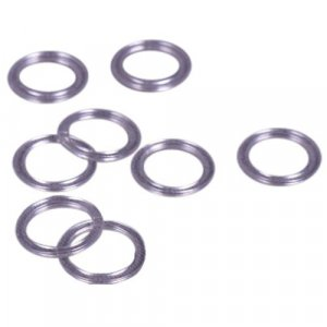 Clear Plastic Ring - 7/16 inch or 11mm - 100 Pairs