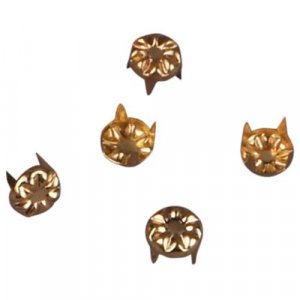 Gold Decorative Metal Round Stud 7mm - 50 pieces