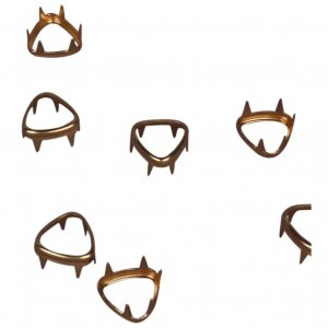 Gold Metal Open Rounded Triangle Studs - 11mm