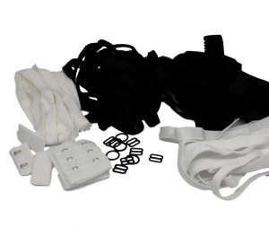 Bra Making Starter Kit - Black & White Hardware Set