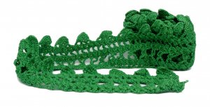 "Green Crochet Vintage Lace - 2 5/8"" Wide - 1 3/4 Yards"