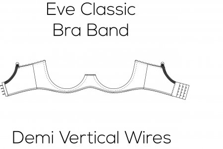 Eve Classic Bra Band for Demi Vertical Wire