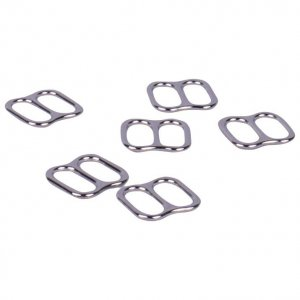 Wide Opening Silver Metal Alloy Slides - 3/8 inch or 10mm