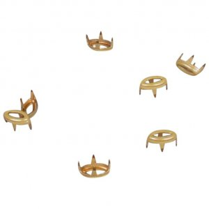 Yellow Metal Open Oval Studs - 5mm