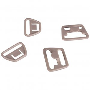 Tan Plastic Nursing Clips - 3/4 inch or 18mm - 10 Sets