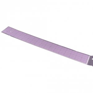 Clear 2 inch Ruler - 18 inch long
