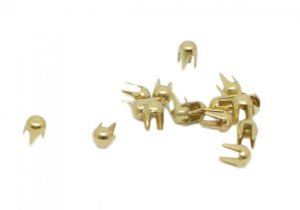 Gold Metal Round Studs - 2mm