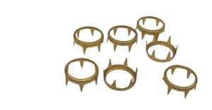 Gold Decorative Metal Open Round Stud - 16mm