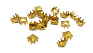 Yellow Gold Square Pyramid Studs - 7mm