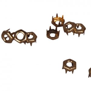 Gold Metal Open Hexagon Studs - 7mm