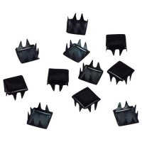 Black Metal Square Studs - 6mm