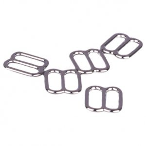 Silver Metal Alloy Slides - 3/8 inch or 10mm