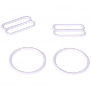 White Metal Ring & Slide Set - 3/4 inch or 18mm